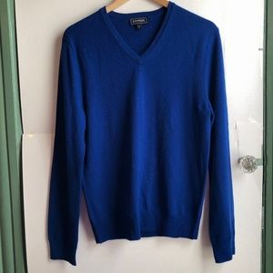 EXPRESS Men's Extra Fine Merino Wool Sweater Blue